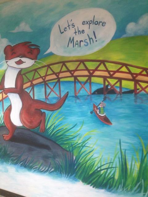 Chesterton mural at the Oak Ridge School